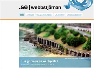 Avbildning av .se hemsida. På bilden står det Hur gör man en webbplats?