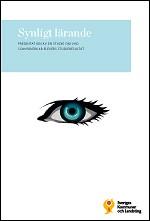 """Omslag till rapporten med ett blått öga och titeln """"Synligt lärande""""."""