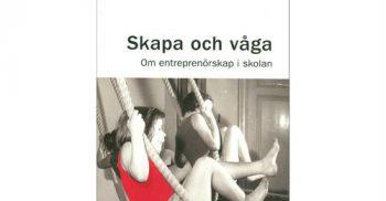 """Bokomslag där två barn svingar i rep med titeln """"Skapa och våga""""."""