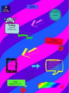 Affisch med olika symboler.