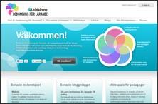 Skärmdump från bedömning för lärande.se