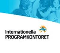 Text: Internationella programkontoret och en symbol.