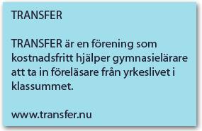 Faktaruta om vad Transfer är.