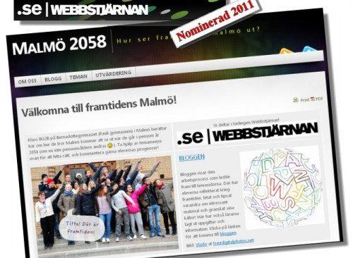 Avbild av webbstjärnans hemsida.