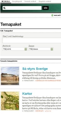 Skärmavbild av ne.se