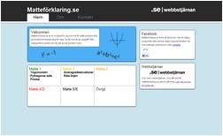 Avbild av hemsidan matteforklaring.se