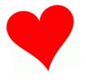 Rött hjärta.