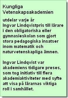 Fakta om ngvar Lindqvistpriset.
