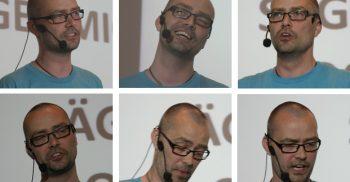 Micke Gunnarsson föreläser.