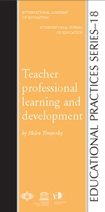 "Bokomslag till Helen Timperley ""Teacher professional learning and development."