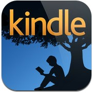 Logotype för appen Kindle.