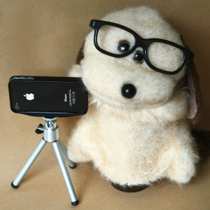 Gosedjuret Bengt med iPhone 4 PRO camera adapter
