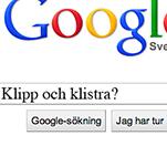 Skärmavbild på googlesökning hur man klipper och klistrar.