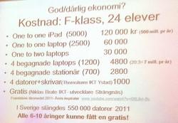 Bild från Arne Tregetons presentation.