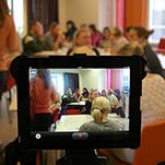 Konferens filmad genom ipad.
