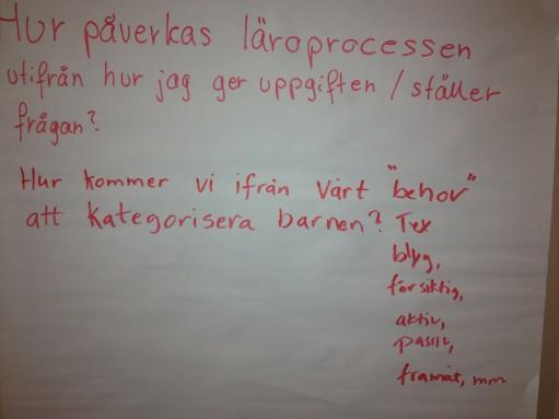 Blädderblock med tankar kring lärprocesser.