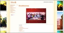 Skärmavbild av Pauliskolans hemsida.