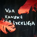 Röd fjädrar framför svart bakgrund.