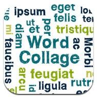 Ikon för appen word collage.