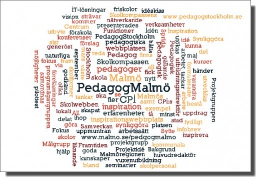 Ordmoln om Pedagog Malmö.