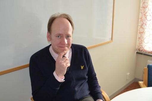 Björn Westerström i sitt klassrum.