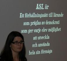 Citat kring ASL projicerat.