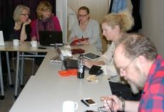 Pedagoger på ipad-workshop.
