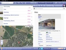 Skärmavbild av appen World explorer.