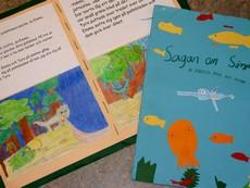 Texter och teckningar bundna till bok.