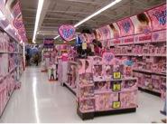 Barbieavdelning i leksaksaffär.