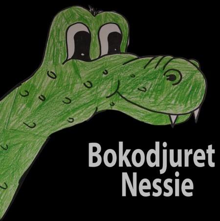 Tecknat bokodjur som heter Nessie.