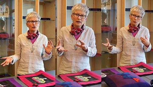 Ann-Sofie Magnér gestikulerar.