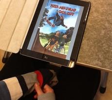 E-bok läses på ipad.