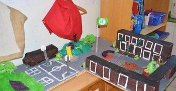 3D-modell av skolgården.