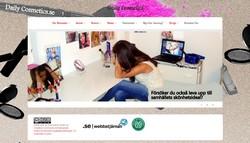Skärmavbild av daily cosmetics hemsida.