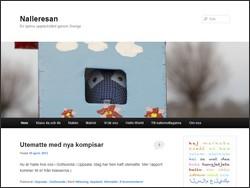 Skärmbild av Nalleresans hemsida.