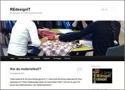 Skärmavbild av redesigns hemsida.