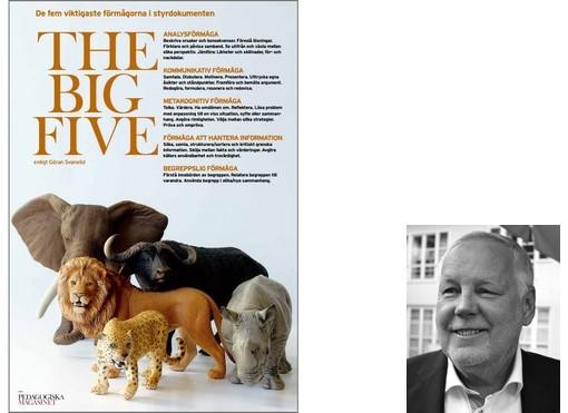 Folder om The big five med djur på framsidan.