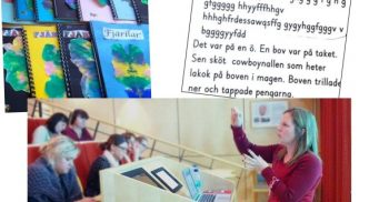 Kvinna föreläser om ASL.
