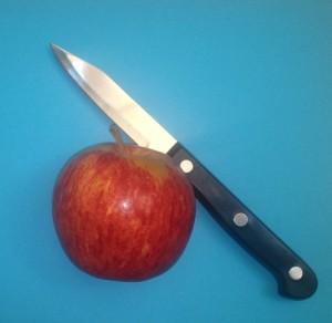 Äpple och kniv.