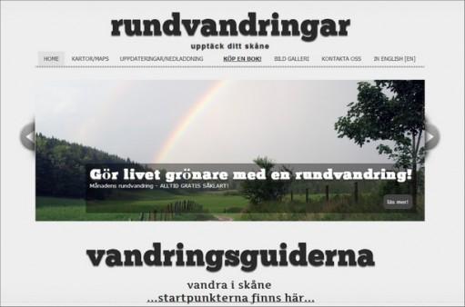 Avbild av hemsida för rundvandringar.