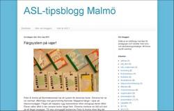 Skärmavbild av ASL-tipsblogg Malmö.