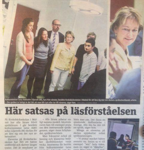 Bild av artikel ur Metro.