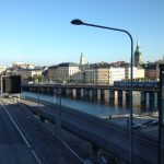 Väg vid Slussen i Stockholm.