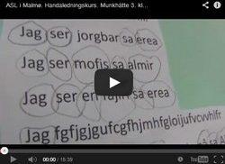 Skärmbild ur film om ASL.