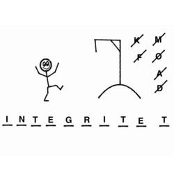 Streckgubbe hoppar fram på ordet integritet.