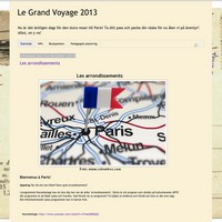 Skärmavbild av bloggen le grand voyage.