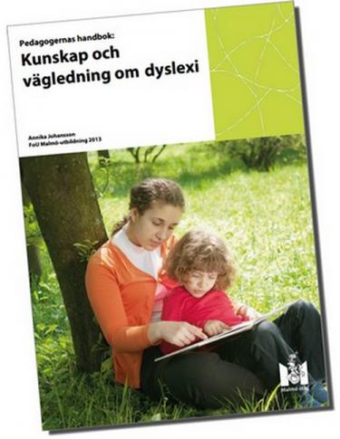 Omslag till boken Kunskap och vägledning om dyslexi.