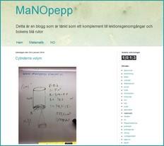 Skärmbild av blogg om matte och no.