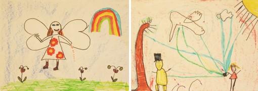 Teckningar av fröken vår.